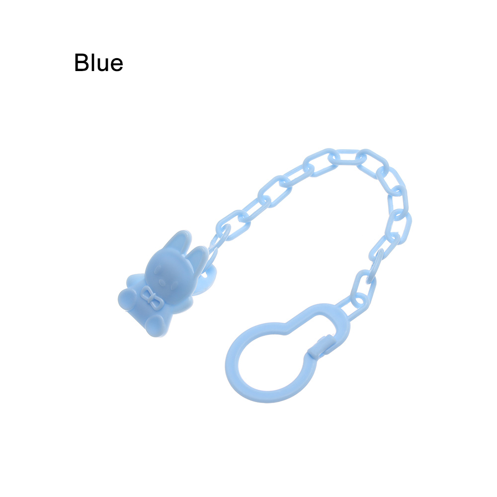Infant Baby Toddler Dummy Pacifier Soother Spring Nipple Clip Chain Strap Holder