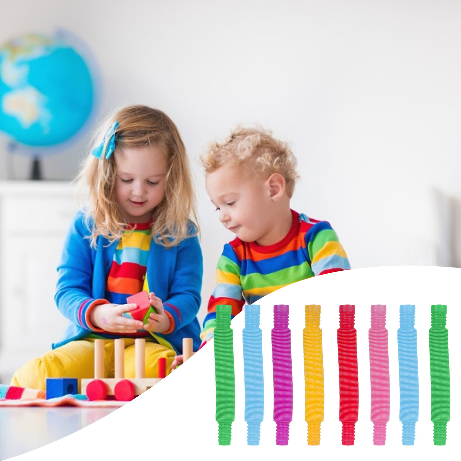 Funny Toys Pop-Tube Plastic Colorful Creative Children's Coil Early-Development Folding img2