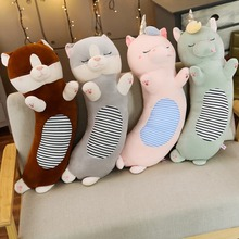 72cm Down Cotton Unicorn Cat Plush Toy Soft Cartoon Animal Sleeping Stuffed Doll Bed Pillow Cushion Children Lover Birthday Gift