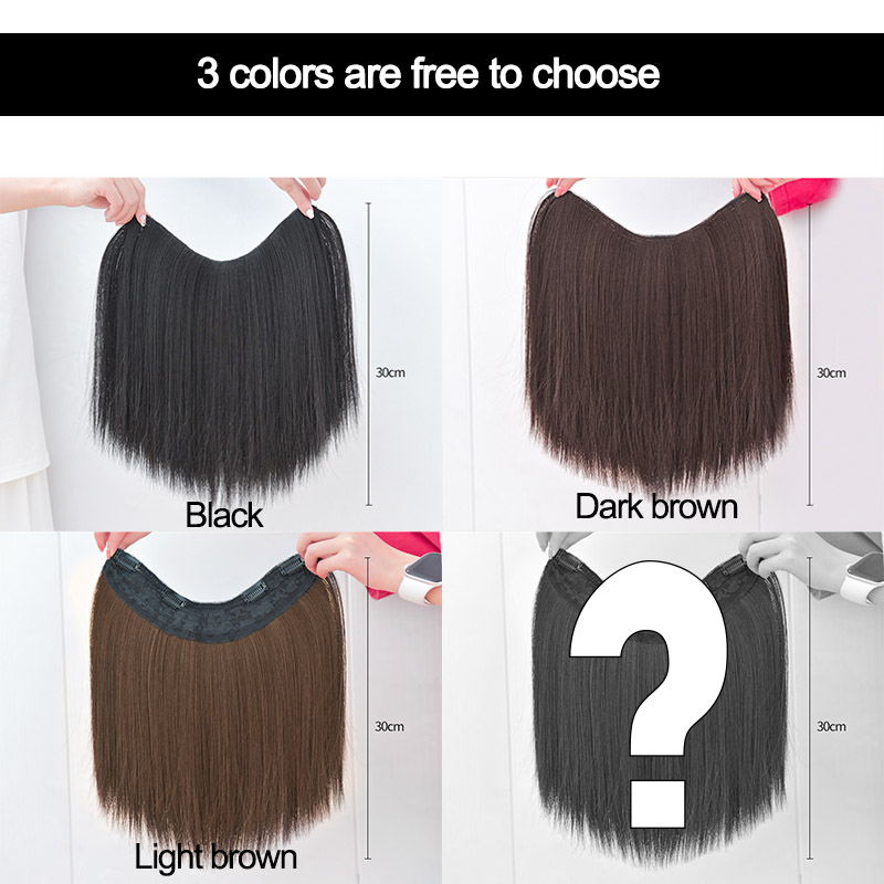 DIANQI, цельные U образные накладные волосы на заколке, 4 заколки, короткие прямые синтетические женские накладные волосы Синтетические прикрепляющиеся пряди    АлиЭкспресс