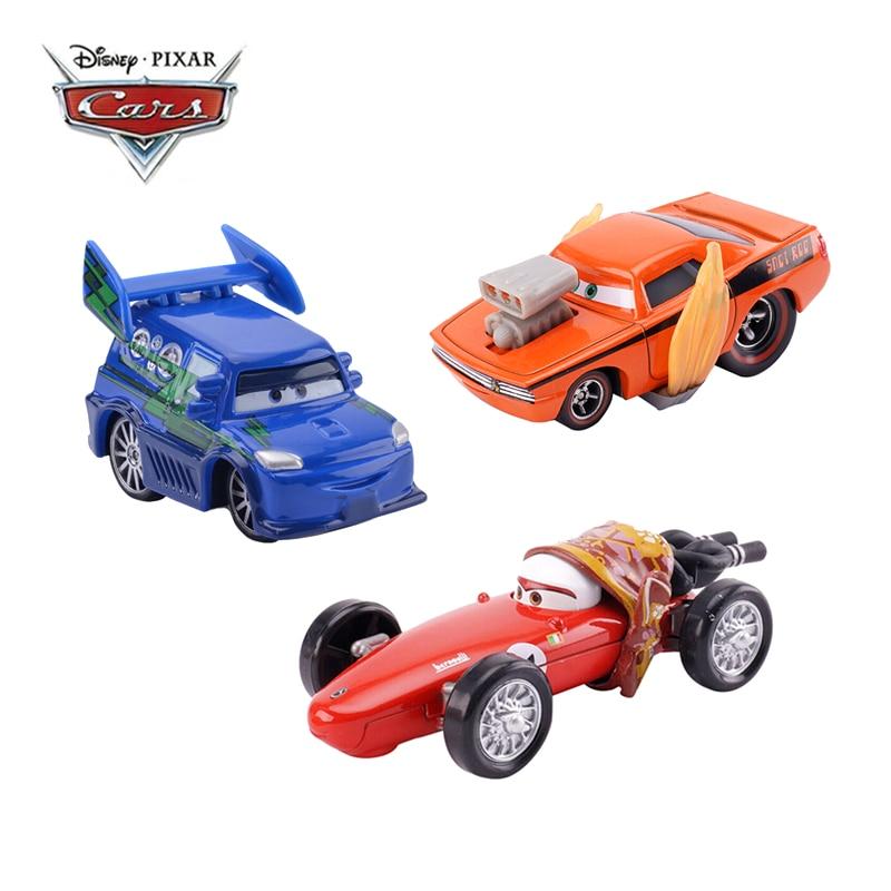 Disney Pixar Cars 3 Cars Lightning McQueen Flames DJ Rotz Mother Jackson Storm 1:55 Diecast Metal Alloy Toy Car Model Kids Gift