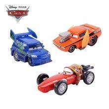 Disney Pixar-coches de juguete de Cars 3 para niños, Rayo McQueen, Flames, DJ, Rotz, Mother Jackson Storm 1:55, fundido a presión, de aleación de Metal