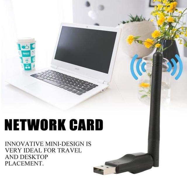 Mini adaptateur Wifi sans fil 150 Mbps 20dBm antenne USB Wifi récepteur carte réseau 802.11b/n/g Wifi Adaptador Mini Dongle WiFi 5