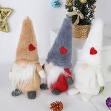 Christmas Decoration 8Inch Plush Gnome Doll Ornaments Swedish Santa Nisse Nordic Elf Figurine Holiday Gift