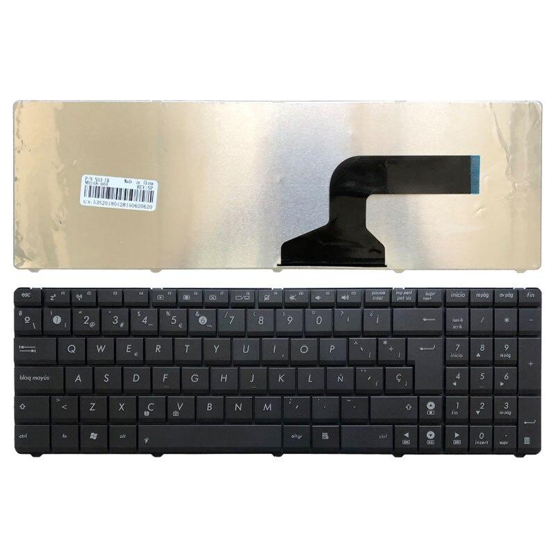 Испанская клавиатура для ноутбука Asus N53S N53SV K52F K53S K53SV K72F K52 A53 A52 U50 G51 N51 N52 N53 G73 black SP, клавиатура