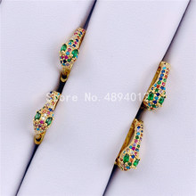 10Pairs,Stud Earring,Women Fashion Jewelry, The Snake Shape .Gold Colors, Can Wholesale
