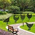 5 шт. новые украшения для сада, куриный металлический двор, искусство на открытом воздухе, сад, задний двор, газон, Декор, металлический курин...