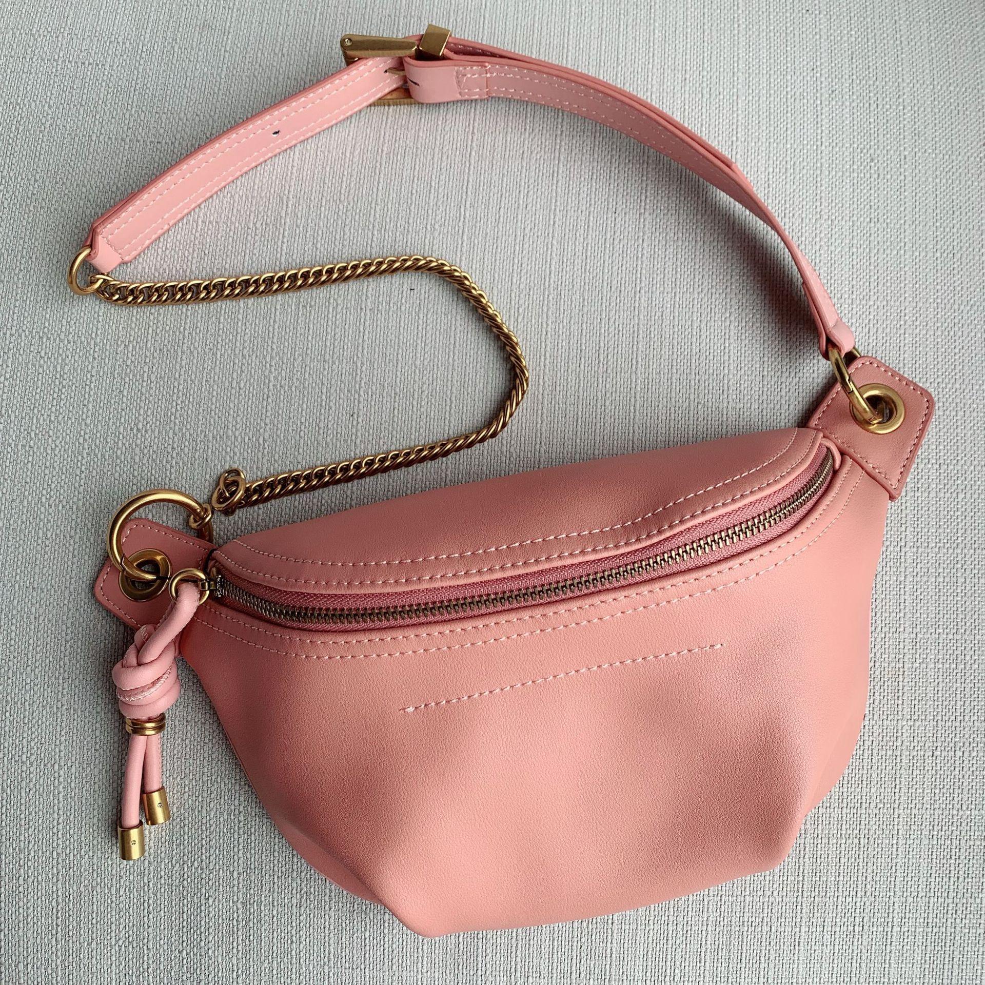 Ins Hot Genuine Leather Women Pink Messenger Bag Designer Shoulder Bags Luxury Handbags Women Bags Designer Bolsas De Mujer
