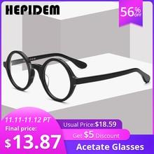 アセテート光学メガネフレーム男性フルレトロヴィンテージラウンド処方眼鏡オタク女性眼鏡近視メガネ