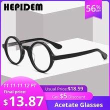 Acetateกรอบแว่นตาผู้ชายRetro Vintageรอบวงกลมแว่นตาNerdแว่นตาสตรีแว่นตาสายตาสั้น