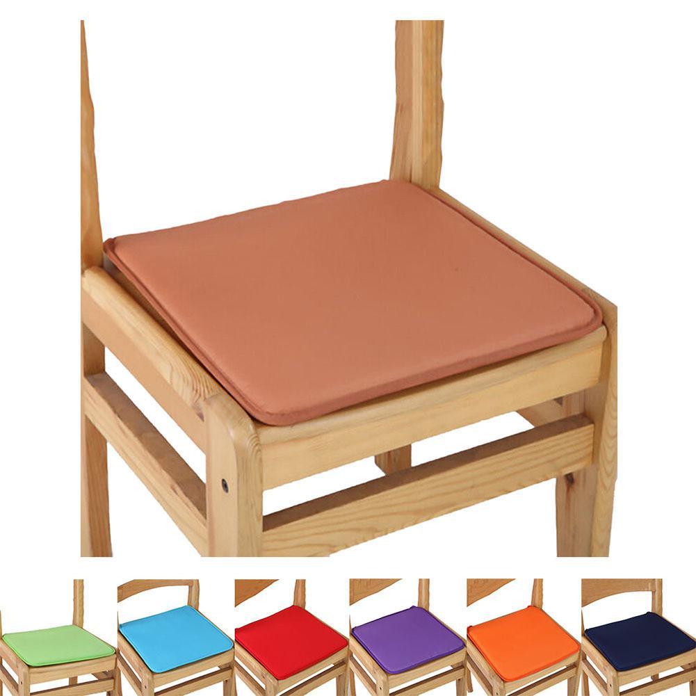 1Pcs Candy Colors Cushion Garden Fabric Plain Plain Cushion European Dining Chair Cushion Creative Sofa Fabric Cushion 40X40CM