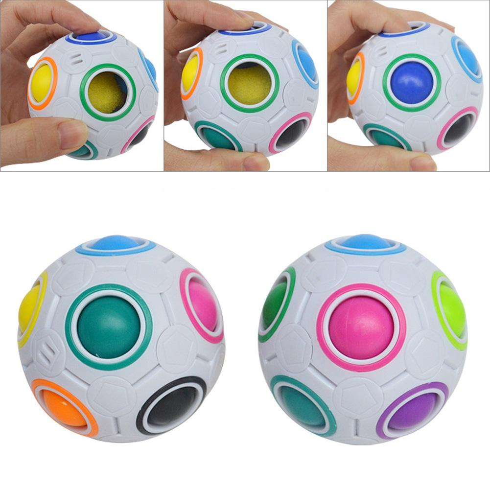 Fidget-Toys Football-Puzzle-Ball Rainbow Magic And Mini Skillful-Design Learning Funny
