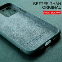 Custodia per telefono in Silicone liquido quadrata originale di lusso per iPhone 12 11 Pro Max Mini XS X XR 7 8 Plus SE 2 custodia morbida per caramelle