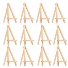 8PCS Kids Mini Wooden Easel Art Painting Name Card Stand Display Holder Drawing for School Student Artist Supplies, (8-Pack)