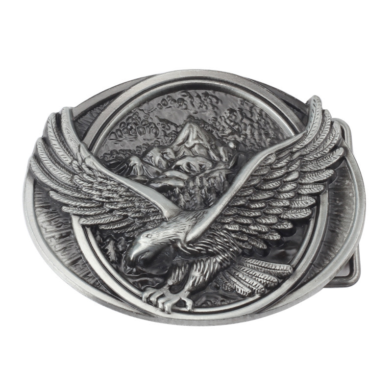 Belt DIY accessories Eagle/Vulture  Pattern Belt Buckle Handmade homemade waistband DIY Western cowboy rock style k43