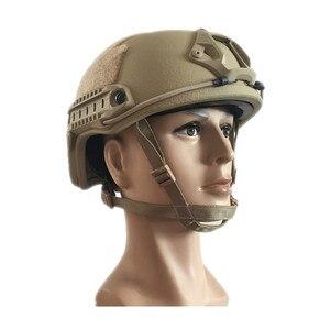 Image 5 - Tactical Bulletproof FAST Helmet NIJ Level IIIA 3A Aramid High Cut Ballistic Helmets ISO Certified Military Paintball Equipment