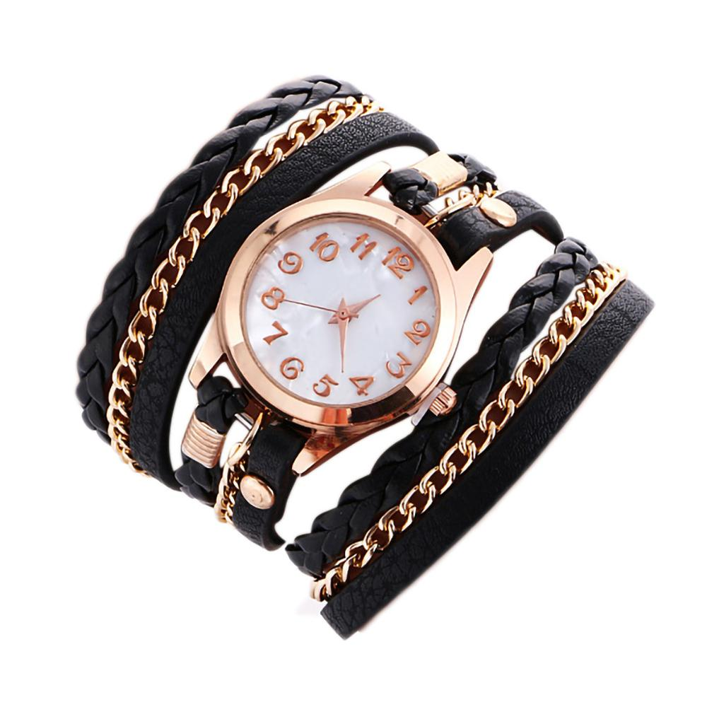 Top Brand High Quality Fashion Womens Ladies Simple Watches Leather Analog Quartz Wrist Watch Clock Saat Gift Ceasuri Reloj &50