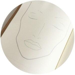 Image 4 - A4 Facechart נייר איפור נייד מקצועי איפור אמן עיסוק תבנית איפור ציור ספר