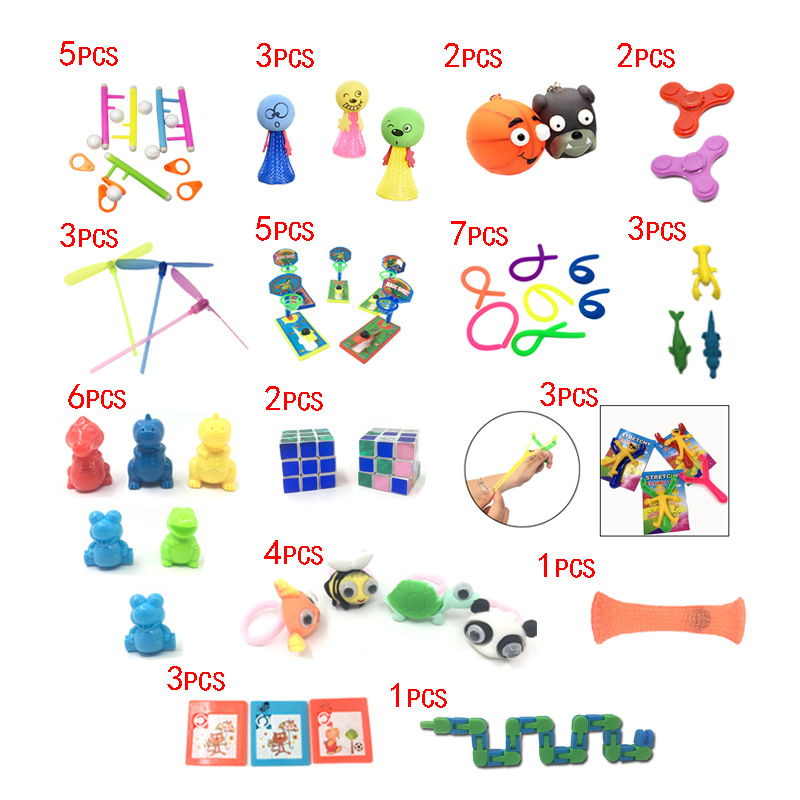 2019 New Funny Combination 50 Pieces Extrusive-Solving Fidget Kids Toys Amazon Hot Selling Material Benefit Toy Set Wholesale