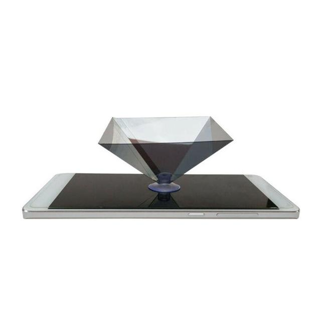 3D Hologram Pyramid Display Projector Video Stand Universa household transparent For Smart Mobile Phone C8R3 3