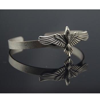 Viking Eagle Bracelet Hawk Cuff Adjustable Bangle  Viking Bracelet