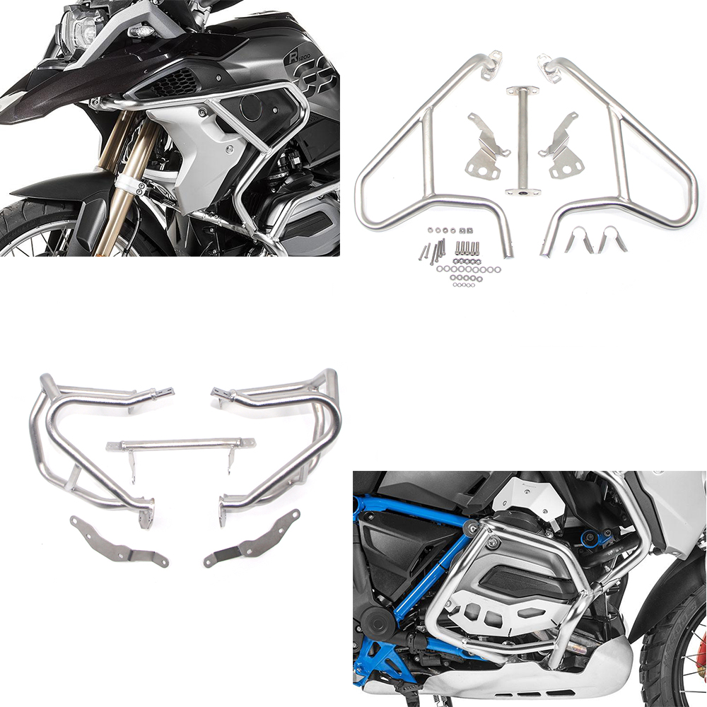 Motorcycle Upper & Lower Engine Highway Guard Crash Bar Bumper Frame Protection For BMW R1200GS R 1200 GS R1200 LC 2013-2018