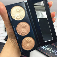 BEAUTY GLAZED 3 Colors Matte Eyeshadow Illuminating Highlight Pressed Powder Concealer Compact Makeup Pallete DHL  shipp