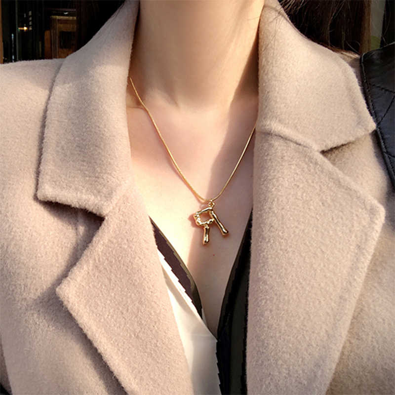 Vrouwen Ketting Mode A-Z 26 Engels Brief Ketting Hanger Ketting Ketting Sieraden Bijoux Femme Vrouw Accesoires Ketting Ho