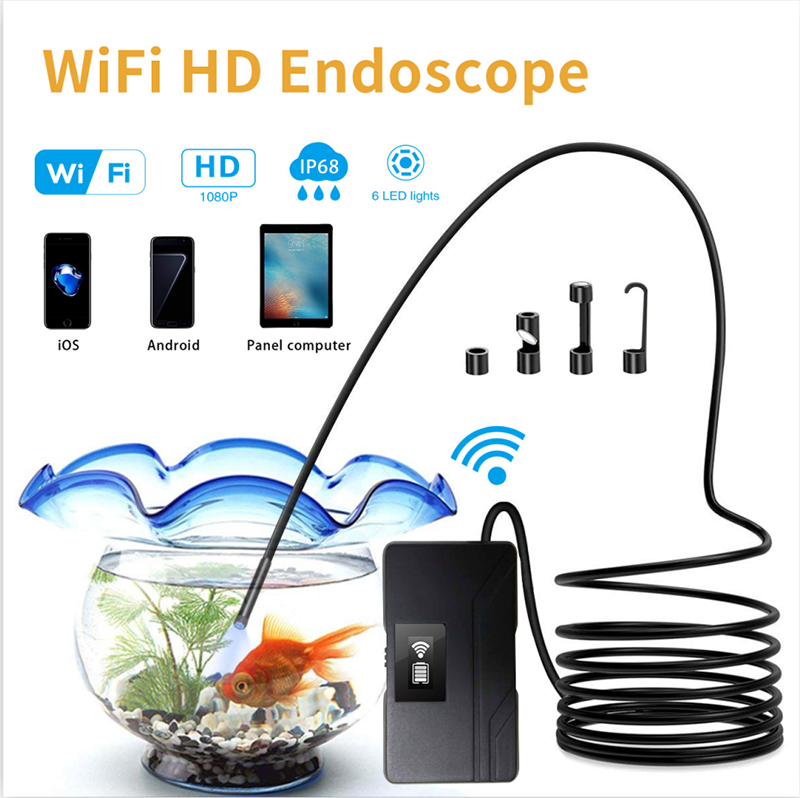 Endoscope WIFI HD Borescope Inspection Camera 5.5mm 1080P Wireless Waterproof Borescope for Android Smartphone PC IOS Endoscopi