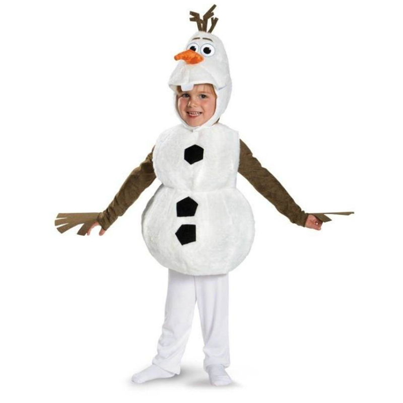 Olaf Halloween Cosplay Costume For Toddler Kids Favorite Cartoon Movie Snowman Party Dress-up Christmas Party Mascot Costumes