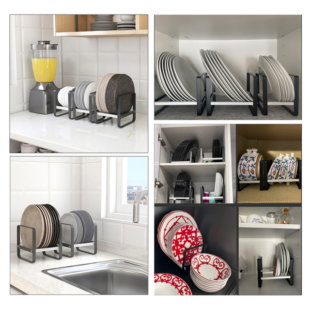 Kitchen Organizer Cabinet Plates Dishes Drying Rack Holder Drainer Goods For the Kitechen Storage And Order Accessories 5