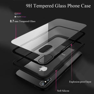 Image 2 - 아이폰 7 케이스 강화 유리 휴대 전화 케이스 아이폰 8 7 플러스 shockproof 전체 커버 아이폰 x 10 funda 액세서리
