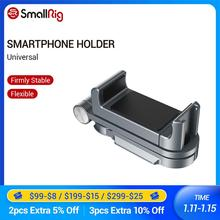 Smallrig suporte universal para smartphones, suporte universal para smartphone iphone x/xs, vlogging, acessórios para celular, montagem por braçadeira, com montagem de sapatos frios 2415