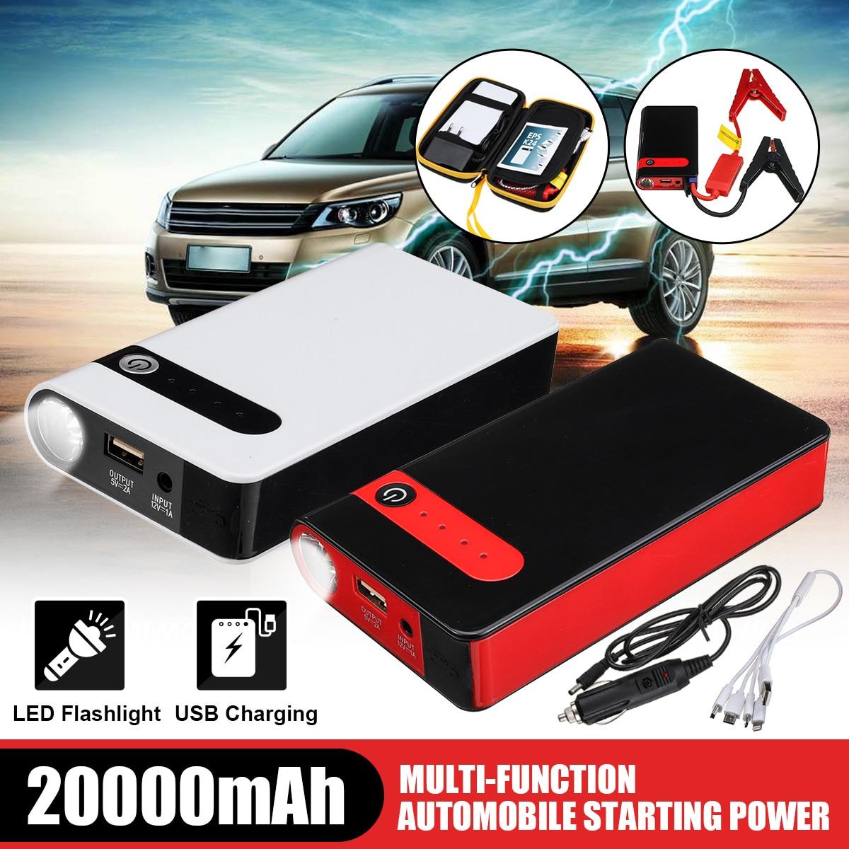 20000mAh Multi-function Jump Starter 12V Car Jump Starter Starter Power Bank Emergency Car Battery Booster Buster LED Portable