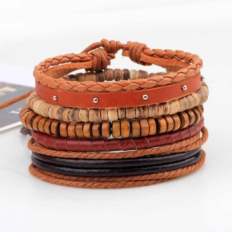 Fashion Gypsy Weave Hemp Rope Woman Bracele Handmade Boho Charm Stackable Wrap Bracelets Multi-layer Adjustable Bracelets Bangle