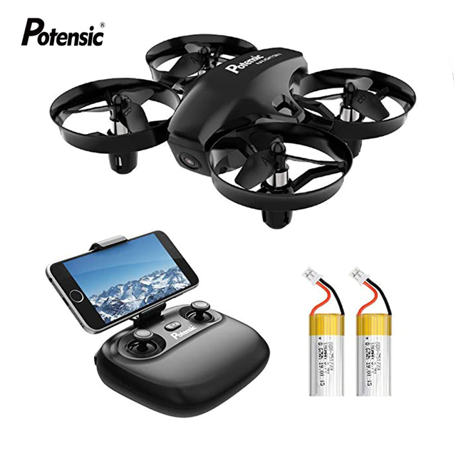 Potensic A20W Professional Mini Drone With Camera HD Altitude Hold Headless Mode 2.4G RC Quadcopter Helicopter Toys For Children
