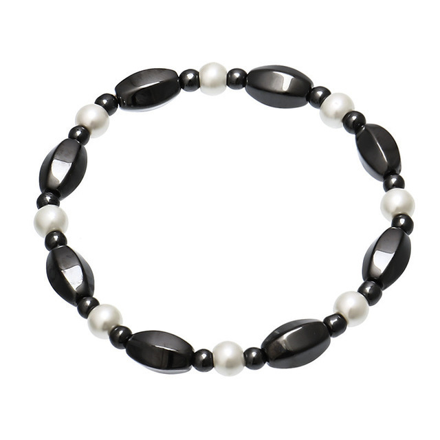 Bangles hematite stretch magnetic bracelet for women to help in weight loss therapy