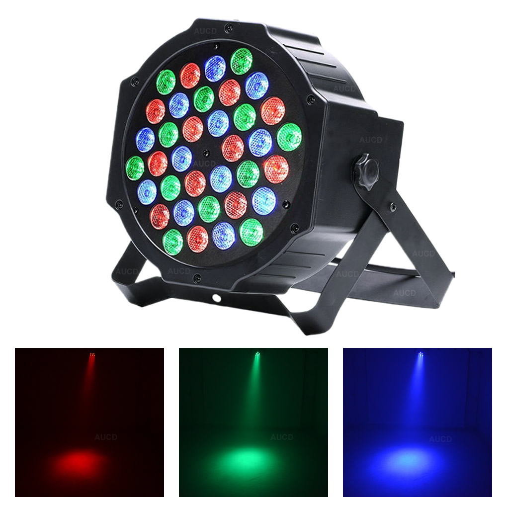 AUCD Mini 36W Red Green Blue LED PAR Lamp DMX Disco Ball Spotlight DJ RGB Wedding Party Show Stage Spot Strobe Lights LE-Par36