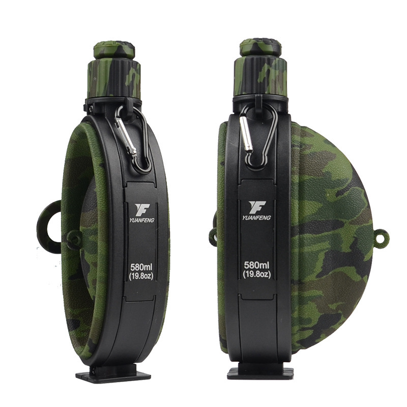 Outdoor Military Water Bottle Silicone Large Capacity Folding Water Kettle Hiking Camping Leak Proof Tour Water Bottle