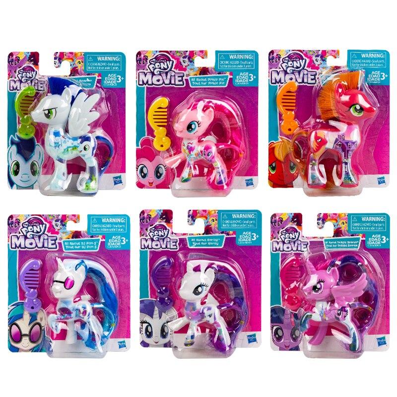 8cm My Little Pony Freundschaft Ist Magie Pony Puppen Twilight Sparkle Fluttershy Mädchen Prinzessin Mode Spielzeug Dekoration Kinder Geschenk