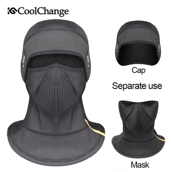 CoolChange Bicycle Mask Windproof Thermal Warm Winter Sports Cycling Half Face Mask Thick Ear Protection MTB Bike Face Mask
