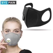 1Pcs Byepain Respiratoire Stofmasker Verbeterde Versie Mannen & Vrouwen Waas Stof Pm2.5 Pollen 3D Cropped Ademend Ventiel Masker