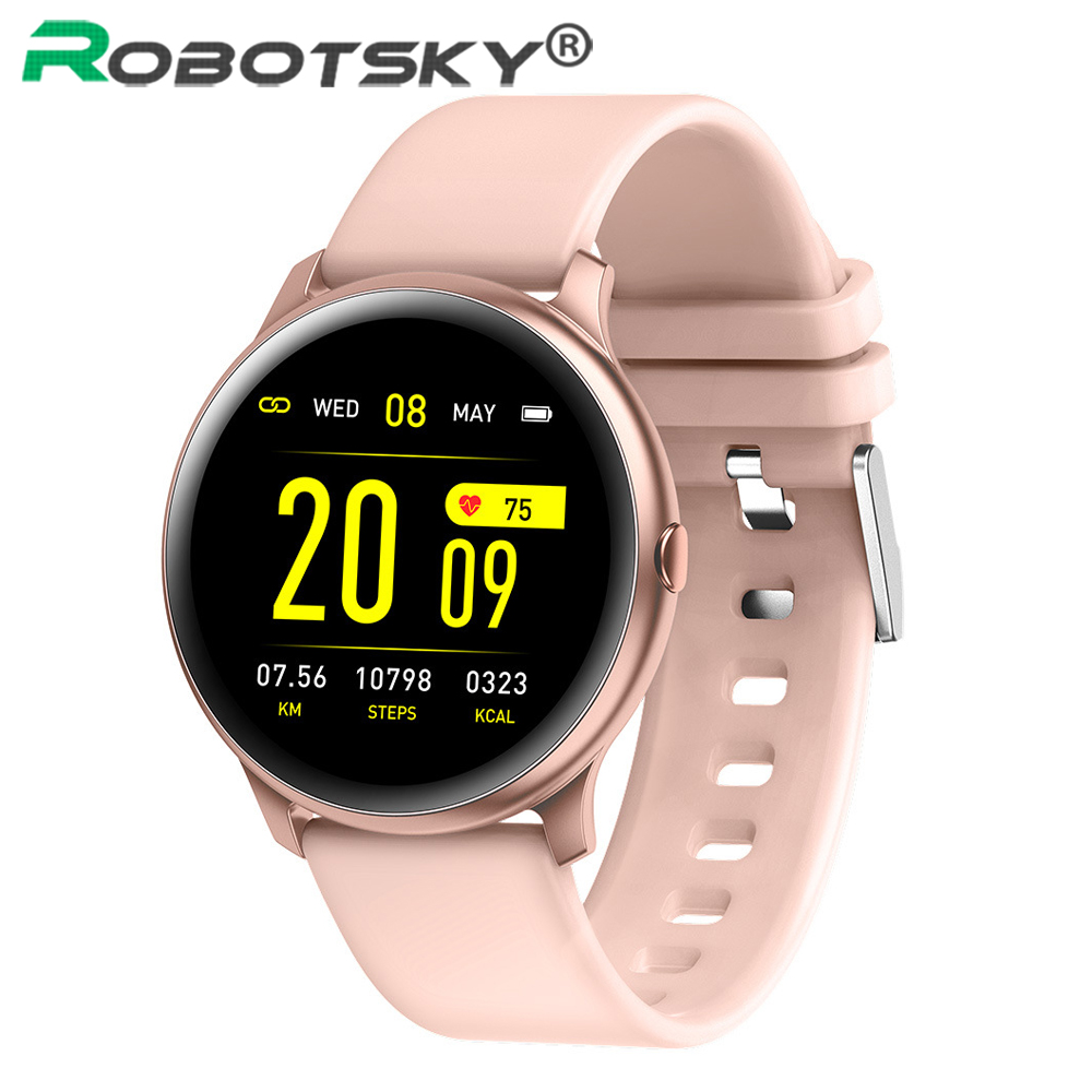 Robotsky <font><b>KW19</b></font> <font><b>Women</b></font> <font><b>Smart</b></font> <font><b>watch</b></font> Heart Rate monitor Men Sports Run <font><b>Smart</b></font> Bracelet Fitness tracker Smartwatch For IOS and Android image