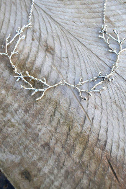 Silver Plated Antler Branch Necklace 2