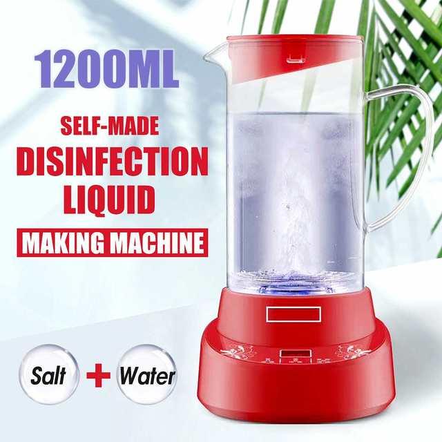 Machine de désinfectant de leau dacide hypochloré de 1.2L générateur hypochloré de Sodium Machine de désinfectant domestique saine