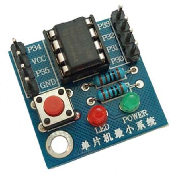 ST028 Single Chip Microcomputer System / STC15F104W Single Chip Learning Development Board / 8-pin Controller