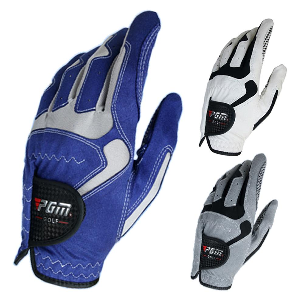 GOLF GLOVES Men's Glove Micro Fiber Soft white blue gery 3color Left Hand Anti-skidding Non slip particles Breathable Golf Glove
