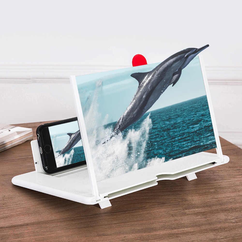 12-Inch Mobiele Telefoon Scherm Versterker Stretch 3D Mobiele Telefoon Vergrootglas Movie Versterker Voor Alle Smartphone Abs + Lens drie Kleuren