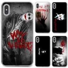 Joker Heath Ledger, ¿por qué tan serio arte para iPhone 11 Pro 4 4S 5 5S SE 5C 6 6S 7 7 8X10 XR XS Plus Max para iPod Touch caso suave(China)