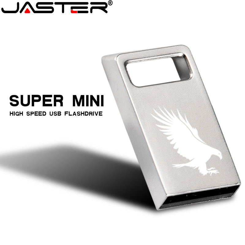 JASTER USB Flash Drive Metal USB 2.0 Square Hole Mini Silver 4GB 8GB 16GB 32GB 64GB Silver Cuboid Usb Micro Flash Drive Metal